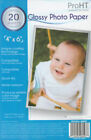 """Inland Products Photo Paper 4"""" X 6"""" 20 Sheets 26047"""