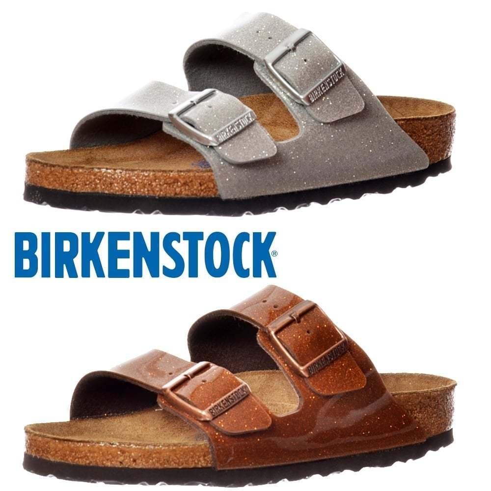 Los zapatos más populares para hombres y mujeres Descuento por tiempo limitado mujer chica BIRKENSTOCK ARIZONA Birkoflor Mágico Galaxy Ajuste Estándar Chanclas