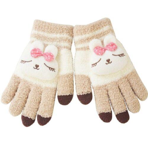 Men Women Warm Cartoon Lovely Winter Gloves Knitted Touch Screen Gloves
