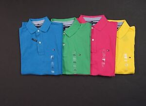 TOMMY-HILFIGER-Classic-Fit-Mesh-Cotton-Logo-Polo-Shirts-NEW-NWT