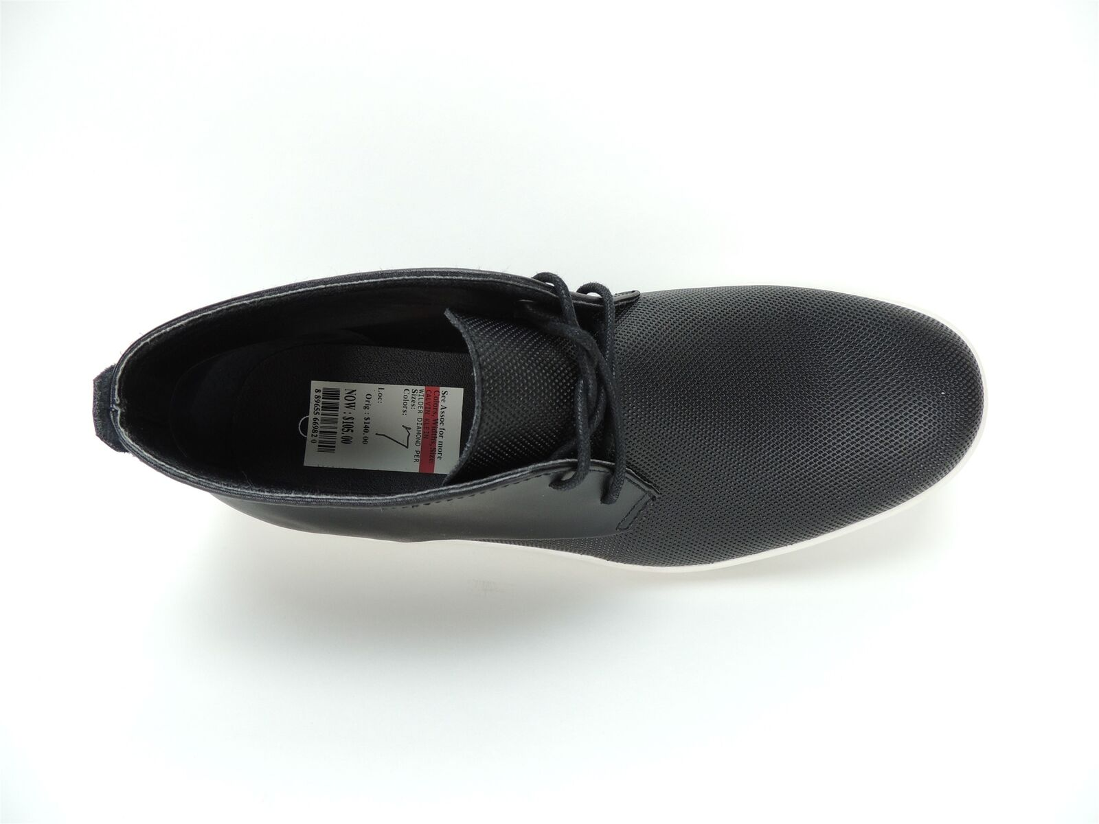 0d7899feca6 Calvin Klein Men's Wilder Diamond Leather Chukka Boots Black Size ...