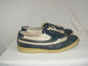 BALLY GOLF Chaussures Homme Vintage 7 1/2 E (P.41) Cuir  Fabriquées en France