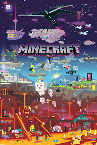 Minecraft-World-Beyond-POSTER-61x91cm-NEW-game-artwork