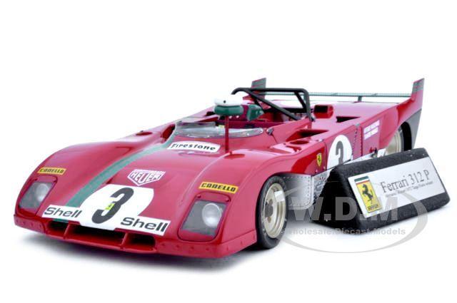FERRARI 312P 312 P TARGA FLORIO WINNER  3 1/18 DIECAST MODEL CAR GMP G1804111