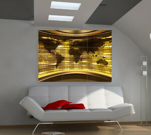 World map large giant 3d poster print photo mural wall art ia183 ebay image is loading world map large giant 3d poster print photo gumiabroncs Gallery