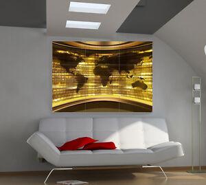 Poster Mural 3d : world map large giant 3d poster print photo mural wall art ia183 ~ Teatrodelosmanantiales.com Idées de Décoration