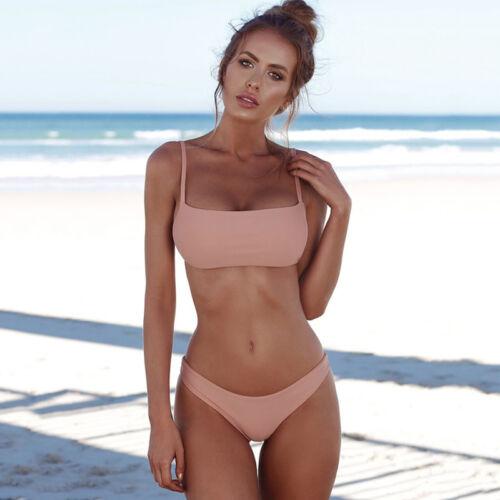2tlg Damen Brasilien Bikini Set Push up Badeanzug Bademode Tangas Schwimmanzug