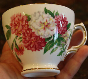 ROYAL-VALE-England-Bone-China-7109-Floral-Teacup-with-Gold-Accents