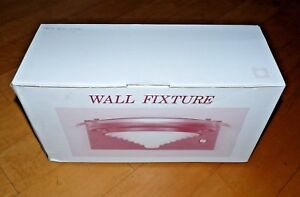 Details About New In Box Sigma Lighting Wall Fixture Ew 301 Pb Opal Gl Gold