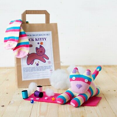 Sock Kitty Craft Kit Creature Sewing