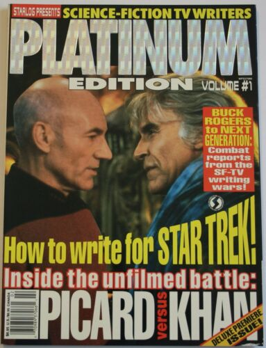 1993 Starlog Platinum #1 Star Trek Science Fiction Magazine Picard vs. Khan EX