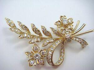 ! GORGEOUS 2.5 CARAT T.W. DIAMOND FLOWERS-LEAVES, 12.5 GRAMS.