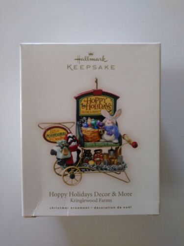 "/""HOPPY HOLIDAYS DECOR /& MORE/"" /'KRINGLEWOOD FARMS/' Hallmark Ornament 2007-NIB"