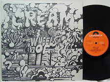CREAM - Wheels of Fire - In the Studio LP (RARE UK Import on POLYDOR)