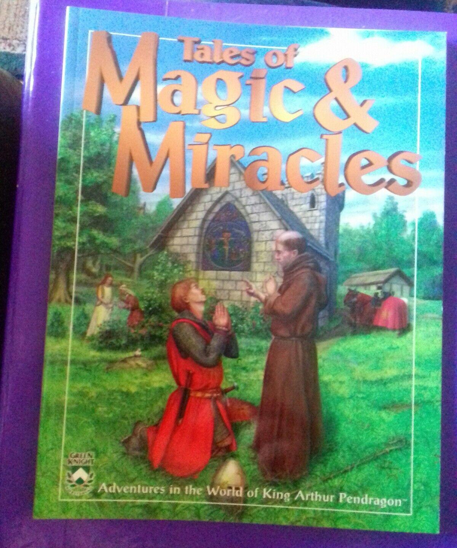Tales of magic & miracles Pendragon king arthur arthurian RPG book green knight
