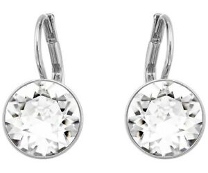 Bella-Mini-Pierced-Earrings-in-18K-White-Gold-Plated-made-with-Swarovski-Crystal