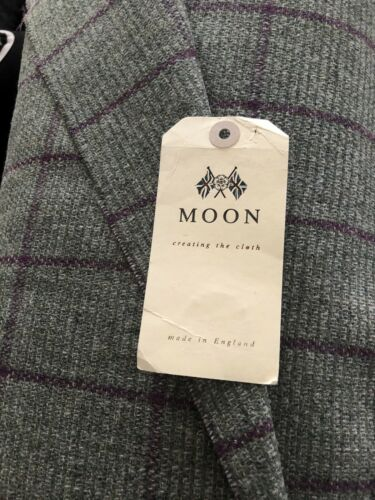Moon Wool Countrywear Green With Aubergine Overcheck Am27