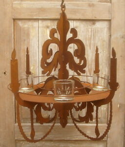 chandeliers-Decoration-de-jardin-Lustre-pour-bougies-lampes-the-pots-plantation