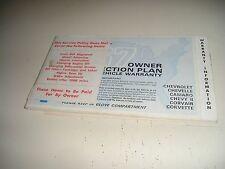 1967 ORIGINAL CORVETTE CONVERTIBLE PROTECTION PLAN/MANUAL