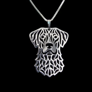 """CHESAPEAKE BAY RETRIEVER DOG PENDANT NECKLACE WITH 18/"""" SILVER CHAIN LOVELY GIFT"""