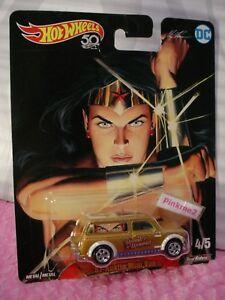 Wonder-Woman-039-67-AUSTIN-MINI-VAN-gold-real-riders-2018-Hot-Wheels-DC-POP-CULTURE