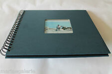 Grand album photos neuf 25 pages feuilles noires spirale classique bleu 30cm