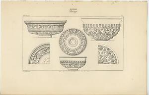 ANTIQUE POMPEII HERCULANEUM DESIGN DECOR ANCIENT ROME GREECE GRECIAN VASE PRINT