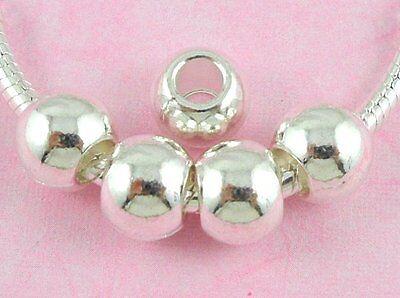 30pcs Tibetan Silver Smooth Barrel Big Hole beads Fit Bracelet ZY160