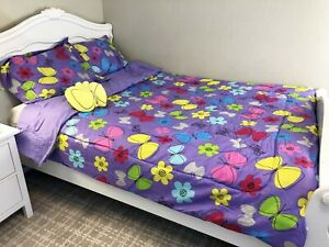 New 6 Pieces Twin Size Kids Girls Bed In A Bag Comforter ...