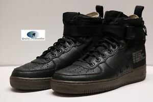 Details about Nike SF AF1 Mid Special Forces Air Force Black Dark Hazel 917753 002 Size 9 12