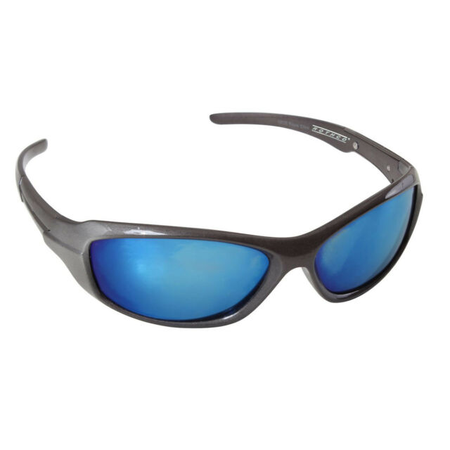 46ab12f740 Rothco 4356 9mm Grey Frame Sunglasses W  Blue Mirror Polycarbonate Lens for  sale online