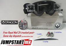 Dragon MDX Black Motocross Roll Off goggles - Rapid System - clear anti fog lens