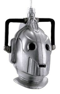 Doctor-Who-Cyberman-4-25-034-Glass-Xmas-Ornament-NEW-Christmas-Tree-Decoration