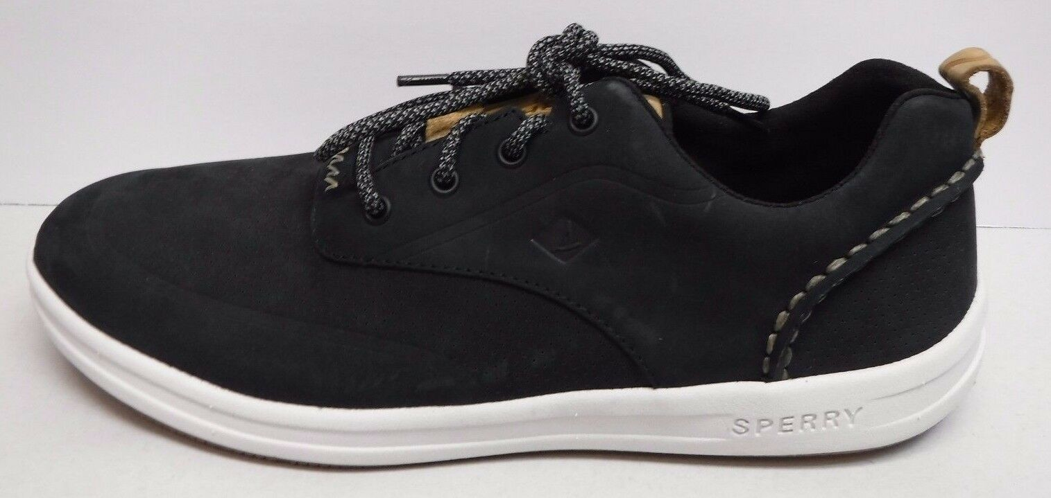 Sperry Size 11 Black Leather Sneakers New Mens shoes