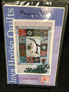 Details About Java House Quilts Penguins Puzzle Applique Quilt Pattern
