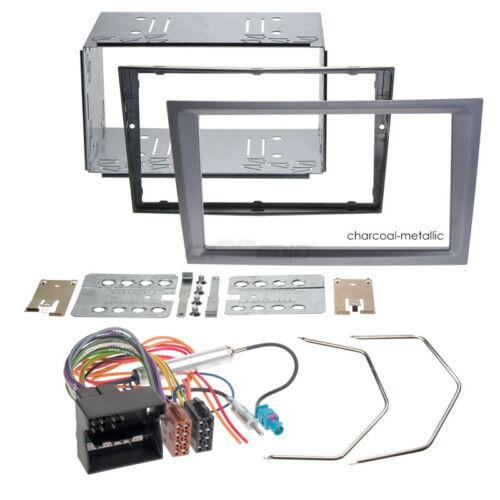 Autoradio Einbauset 2-DIN Opel Signum 03-08 Kabel Einbaurahmen charcoal-metallic