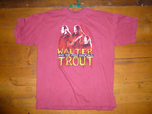 Vintage-WALTER-TROUT-SIGNED-Face-The-Music-2000-Tour-TShirt-Size-XL-Blues-Rock