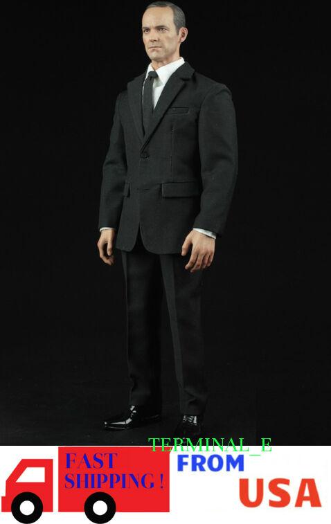 1 6 Men Agent Suit Set For Phil Coulson S.H.I.E.L.D. Phicen HotToys Figure ❶USA❶