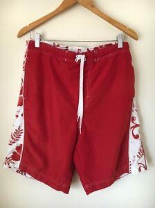 Zuversichtlich Next Size M Red White Surf Style Swimming Shorts <t6769 Kleidung & Accessoires