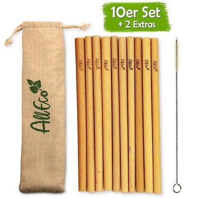 Reinigungsbürste Eco-beutel Eine GroßE Auswahl An Waren Hell Alleco Bambus Strohhalme 10er Set