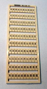 201...300 WAGO Beschriftungsstreifen WSB 209-510