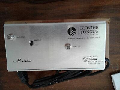 Original Box NEW BlonderTongue MVB-25 VHF Distribution Amplifier w// FM Trap
