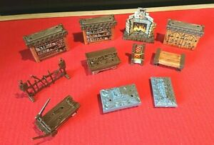Heroquest-Furniture-Bundle-11-Items-Hero-quest-Spares-Parts-Extras-MB
