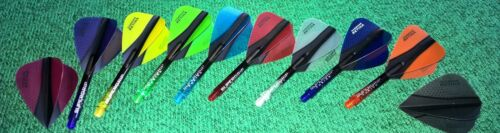 9 Harrows Retina Dart Flights Kite 3 Sets inkl. 1 Set Supergrip Fusion X Shafts