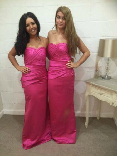 Satin Bridesmaid Dress Wedding Ballgown Evening Prom Formal Floor length