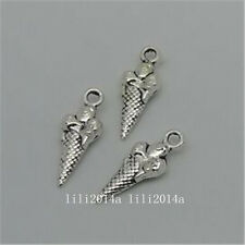 30pc Tibetan Silver Ice cream Pendant Charms Jewellery Making Accessories P732Y