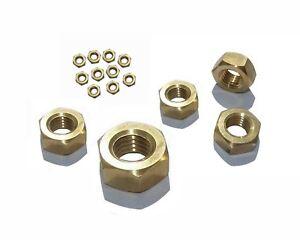 Messing-MUTTERN-M2-M2-5-M3-M4-M5-M6-M8-M10-M12-M14-M16-oder-M20-Mutter-DIN934