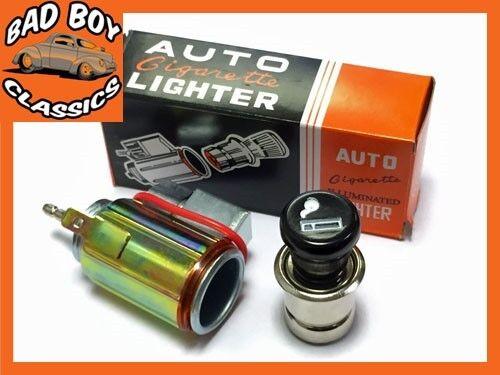 12v Klassisch Retro Style Zigarettenanzünder /& Stecker Beleuchtet Auto,Van,Boot