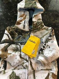 Cabelas Infant Jacket 0 3 M Camo Hooded Sweatshirt Top Infant White Snow so cute