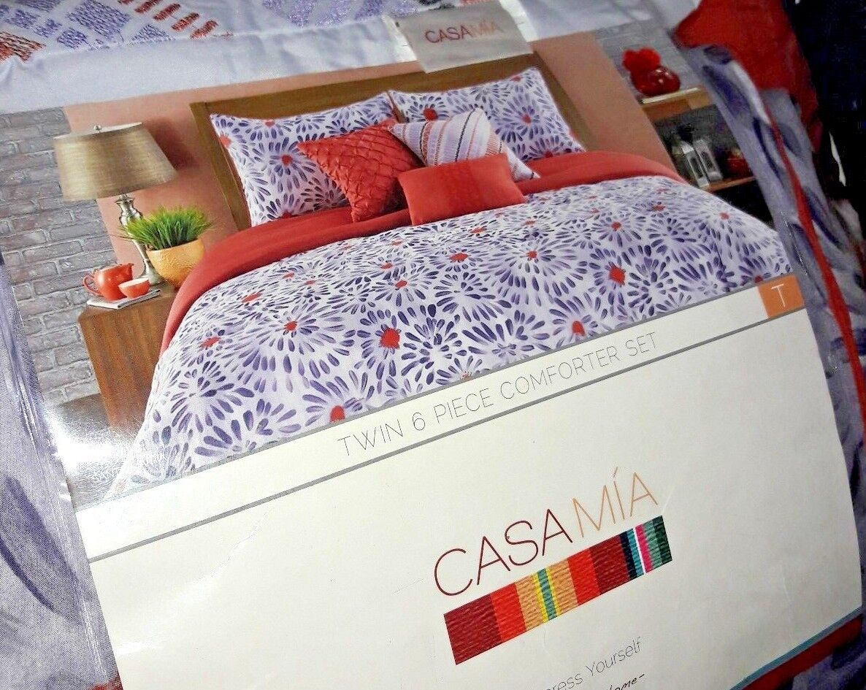 Casa Mia   Twin Größe 6 Piece Bedding And Comforter Set  (Collectors Item)